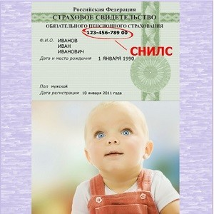 Где получить СНИЛС на ребенка