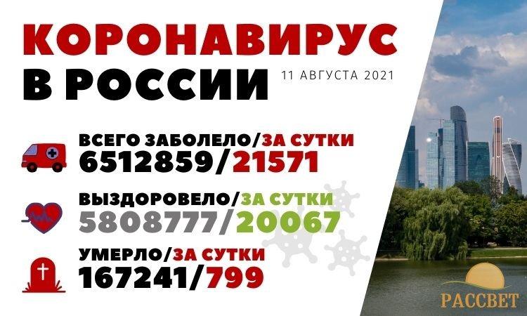 Коронавирус в России 11 августа 2021 года